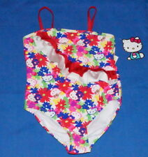 Hello Kitty Girl's 6X Swimwear One Piece Red Color Floral Sanrio $12 NWT Free/Sh