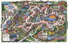 1992 ASTROWORLD MAP POSTER 24 X 36 Inches Looks beautiful Nostalgia HOUSTON