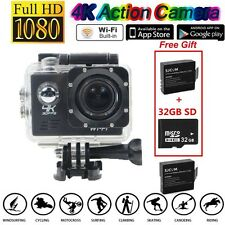 SJ8000 4K 30 fps Sony IMX179 WiFi Sports Action Camera+Extra 2 Battery+32GB SD G