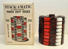 Vintage poker chips Stack-A-Matic 8 Individual Poker Chip Rack New in Box