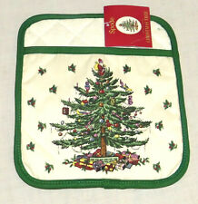Spode Christmas Tree 8.25 x 9.25 inch Oven Pot Holder - New with Tag