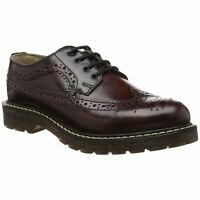 New Grinders Bertrum Burgundy Mens Ladies American Brogue Leather Lace Up Shoes