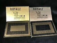 Vintage HEINES Royale Lustertone Black and Gold Bridge Playing Cards