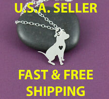 Pitbull or Boxer  - Dog Canine Necklace Pendant Silver FREE SHIPPING