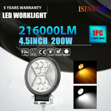 1X 4.5'' 200W Round 10LED Work Light Waterproof Off-road Truck Fog Driving Lamp