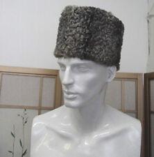 REFURBISHED NEW GRAY PERSIAN LAMB (ASTRAKAN) FUR BOAT STYLE HAT MEN MAN