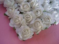 144 Mulberry Paper Rose Flower/wedding Favor/decoration/craft/bo uquet H420-White