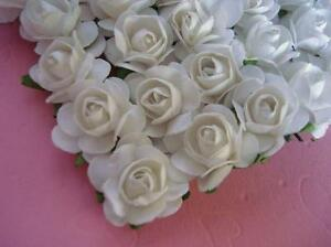 144 Mulberry Paper Rose Flower/wedding Favor/decoration/craft/bouquet H420-White