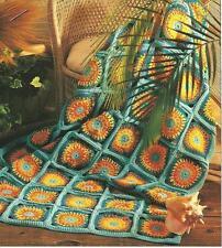 *Sunbright Afghan crochet PATTERN INSTRUCTIONS