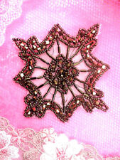 """JB137  Beaded Applique Glass Beads Bronze 4""""  4000 ITEMS IN STOCK @ GLORYS HOUSE"""