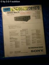 Sony Service Manual STR DE870 /DE1070 FM/AM Receiver (#5287)