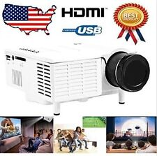 White HDMI Micro AV LED Digital Mini Video Game Projector Multimedia player