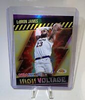 2020-21 NBA Hoops Lebron James High Voltage Gold Holo Foil