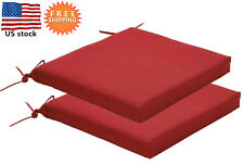 Bossima Outdoor Seat Cushions Patio Home Dining Chair Pad Ties Rust Red Set of 2