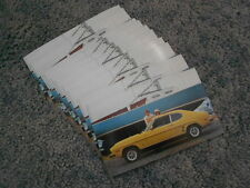 1974 MERCURY CAPRI POSTCARD LOT of TEN 10 FACTORY ORIGINAL AD YELLOW 2800 V6 OEM