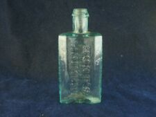 43659 Old Vintage Antique Glass Bottle Medicine Quack Cure New York Pontil