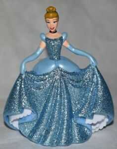 Disney Store Authentic Princess CINDERELLA FIGURINE Sparkle Cake TOPPER Toy NEW