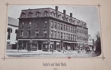 Leominster Massachusetts Photo Album 1880 Photographs General Store Business
