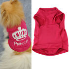 Pet Dog Cat Princess T-shirt Clothes Summer Vest Coat Puppy Costumes Outfit HG