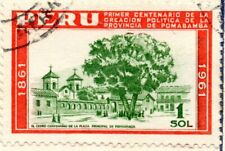 Peru, Province of Pomabamba 1861-1961, $1, combined shipping accepted