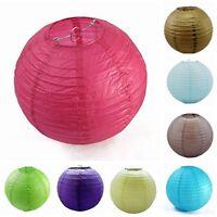 "Lot 10X round paper lanterns lamp 6"",8"",10"",12"",14"",16"",18"" wedding party docor"