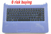 For HP 14-AN 14-AN000 858082-DH1 Keyboard Nordic Norwegian Swedish Blue Top case