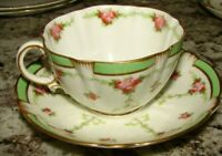 Antique Crescent & Sons China England Cup & Saucer