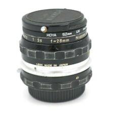 Nikon Nikkor-H Auto Non-Ai 28mm F/3.5 MF Manual Lens USA