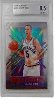 1994-95 Topps Finest #286 Jason Kidd RC BVG 8.5 NM-MT+ with Coating Mavericks