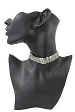 Women Thin Silver Metal Fashion Jewelry Choker Necklace Green Butterfly Narrow