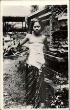 Bali Indonesia - Beautiful Native Girl Real Photo Postcard