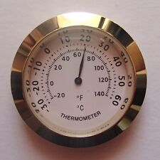 43mm Gold Bezel Thermometer White Dial Fit-up/Insert, Weather Instruments