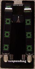 "Suspenders Children & Junior 1""x36"" FULLY Elastic Green Lantern NEW Made in USA"