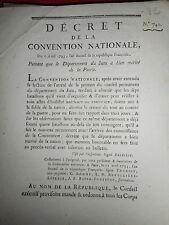 820 DÉCRET CONVENTION NATIONALE 1793 JURA BATAILLON BIEN MÉRITÉ DE LA NATION