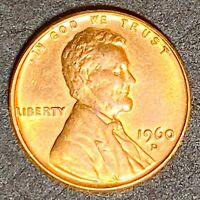 """1960 D Lincoln Memorial Cent Error Small """"D"""" Over Large Date Variety (1444)"""
