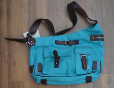 Petit Planet Canvas Urban Cambio Maternity/Changing Bag in Turquoise.
