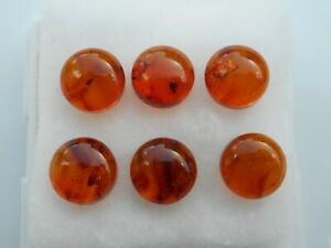Amber Cabochons 8mm round cut £2.50 each piece