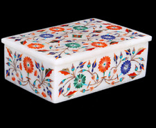 marble ring Box Semi Precious Stones fine Inlay art Work home decor gifts