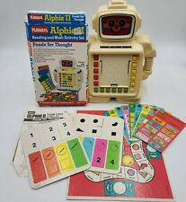 VTG Playskool ALPHIE II Robot Educational Game Cards Directions Box Works READ