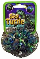 """Mega Fun Marble Net Sea Turtle 1"""" Shooter 24 Game Marbles Ages 5"""