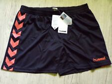 HUMMEL Femme AUTHENTIQUE Short Pantalon Court Sport SHORTS NOIR ORANGE XL 06f554eb518