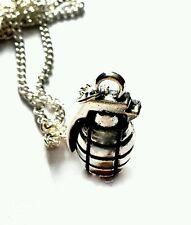 Grenade color argento ciondolo collana 18 inch CATENA