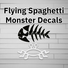 FSM Flying Spaghetti Monster Jolly Pirage Fish Decal, Sticker for Laptop, Tumble