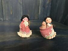 2 Friends Of The Feather 1994 Native American Girls She Who Cares A Lot Enesco