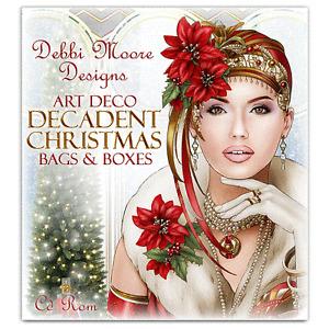 Debbi Moore Designs Art Deco Decadent Christmas Bags & Boxes CD Rom (326549)