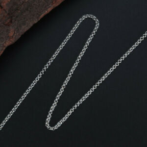 A22 Chain Double Anchor Chain 2,2 MM Silver 925 Length 50 Or 60 CM to Choose