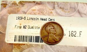 VINTAGE LINCOLN CENT PENNY 1909 S 1924 D 1911 S 1909 VDB LOT OF COINS OLD GROUP