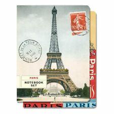 Cavallini - Set of 2 Notebooks 5.5x7.25ins - Paris Eiffel Tower - 96 Pages