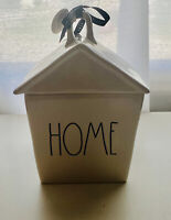 """New Rae Dunn """"HOME"""" Birdhouse LL By Magenta Artisan Collection With Lid"""