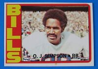 1972 TOPPS OJ SIMPSON FOOTBALL CARD #160 ~ NM/MT (oc)